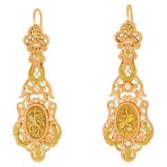 Antique French Chandelier Earrings