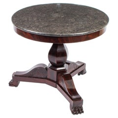 Antique French Charles X Marble Topped Occasional Centre Table 19th Century
