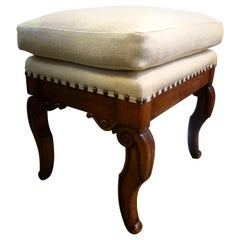 Antique French Charles X-Walnut Ottoman