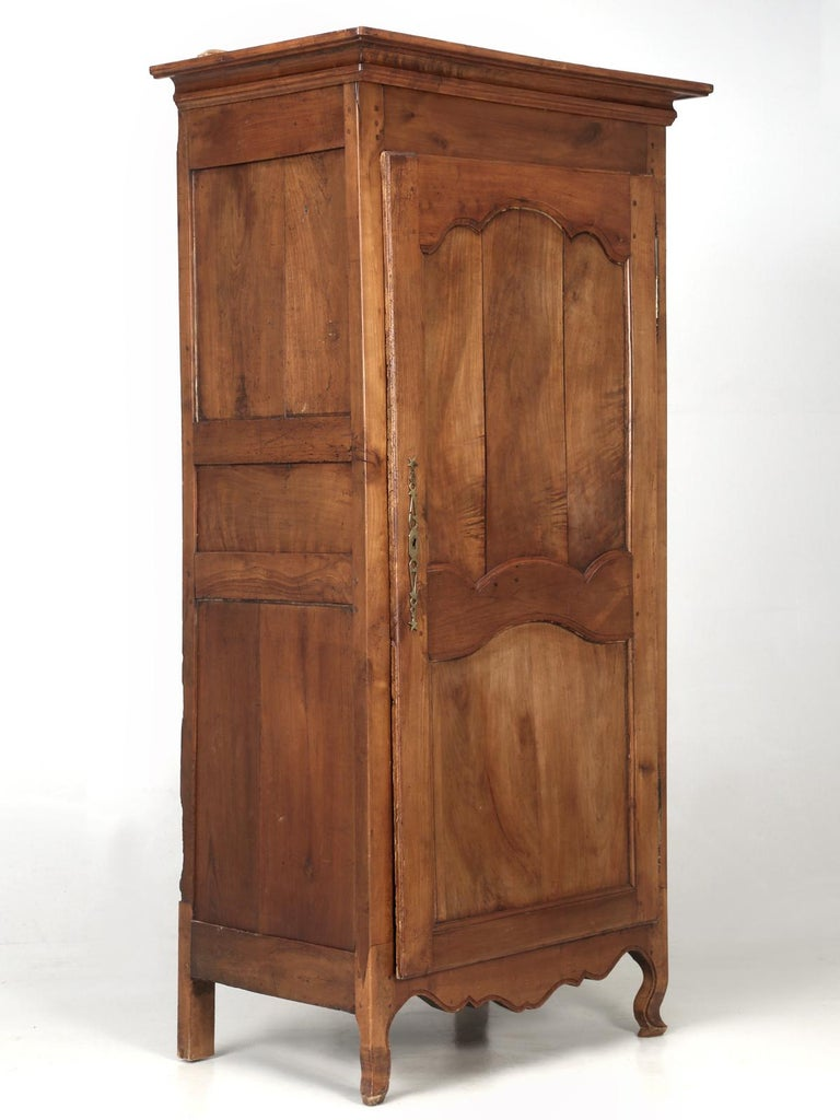Antique French Cherry Bonnetière, or Small Armoire or ...