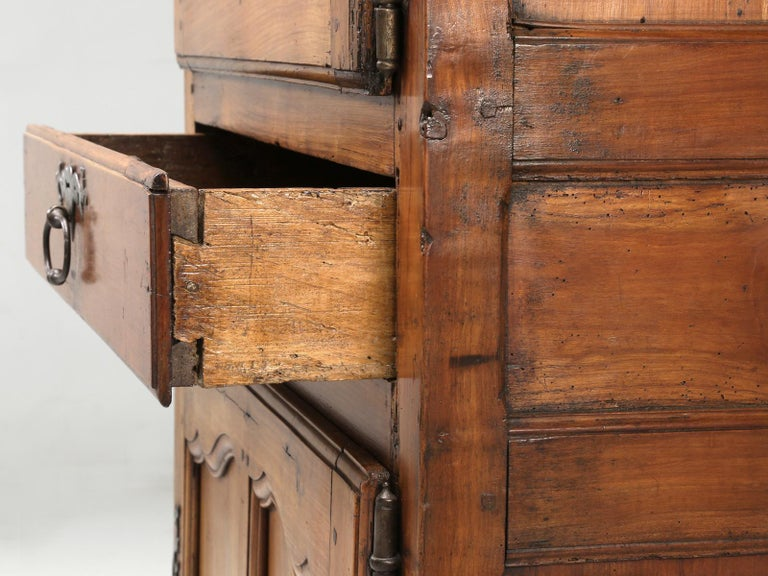 Antique French Cherrywood Bonnetiere 'Small Cupboard', circa 1700s For Sale 8