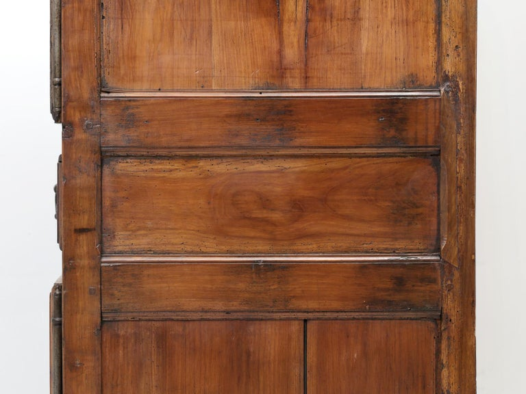 Antique French Cherrywood Bonnetiere 'Small Cupboard', circa 1700s For Sale 12