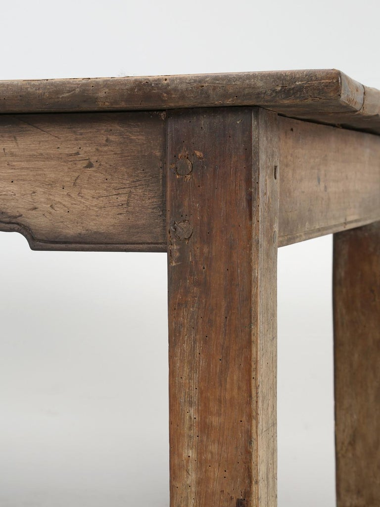 Antique French Cherrywood Rustic Farm Table, Restored Only Structurally For Sale 5
