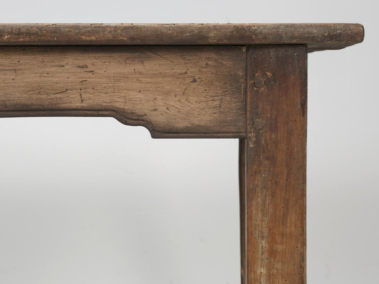 Antique French Cherrywood Rustic Farm Table, Restored Only Structurally For Sale 6