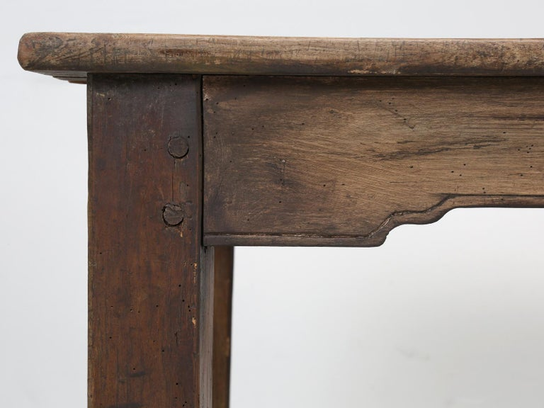 Antique French Cherrywood Rustic Farm Table, Restored Only Structurally For Sale 8
