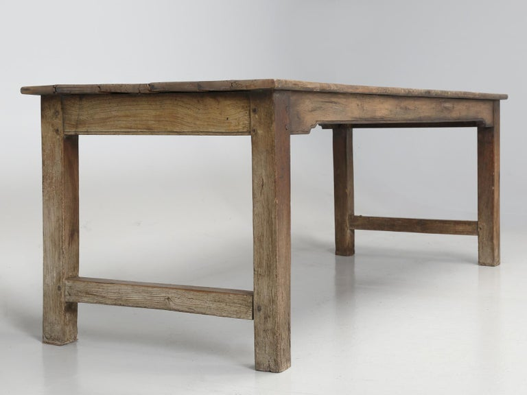 Antique French Cherrywood Rustic Farm Table, Restored Only Structurally For Sale 3
