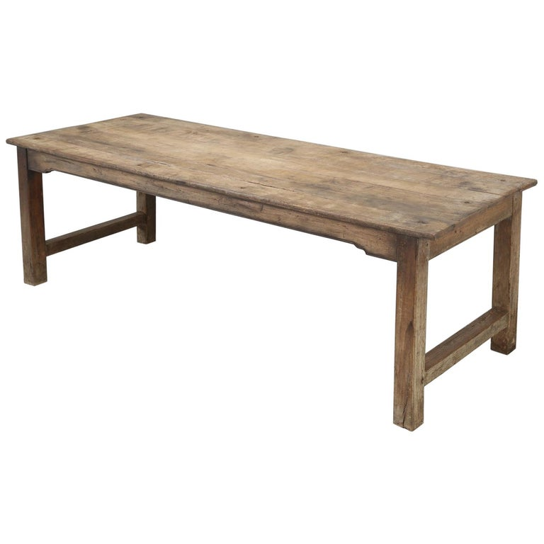 Antique French Cherrywood Rustic Farm Table, Restored Only Structurally For Sale