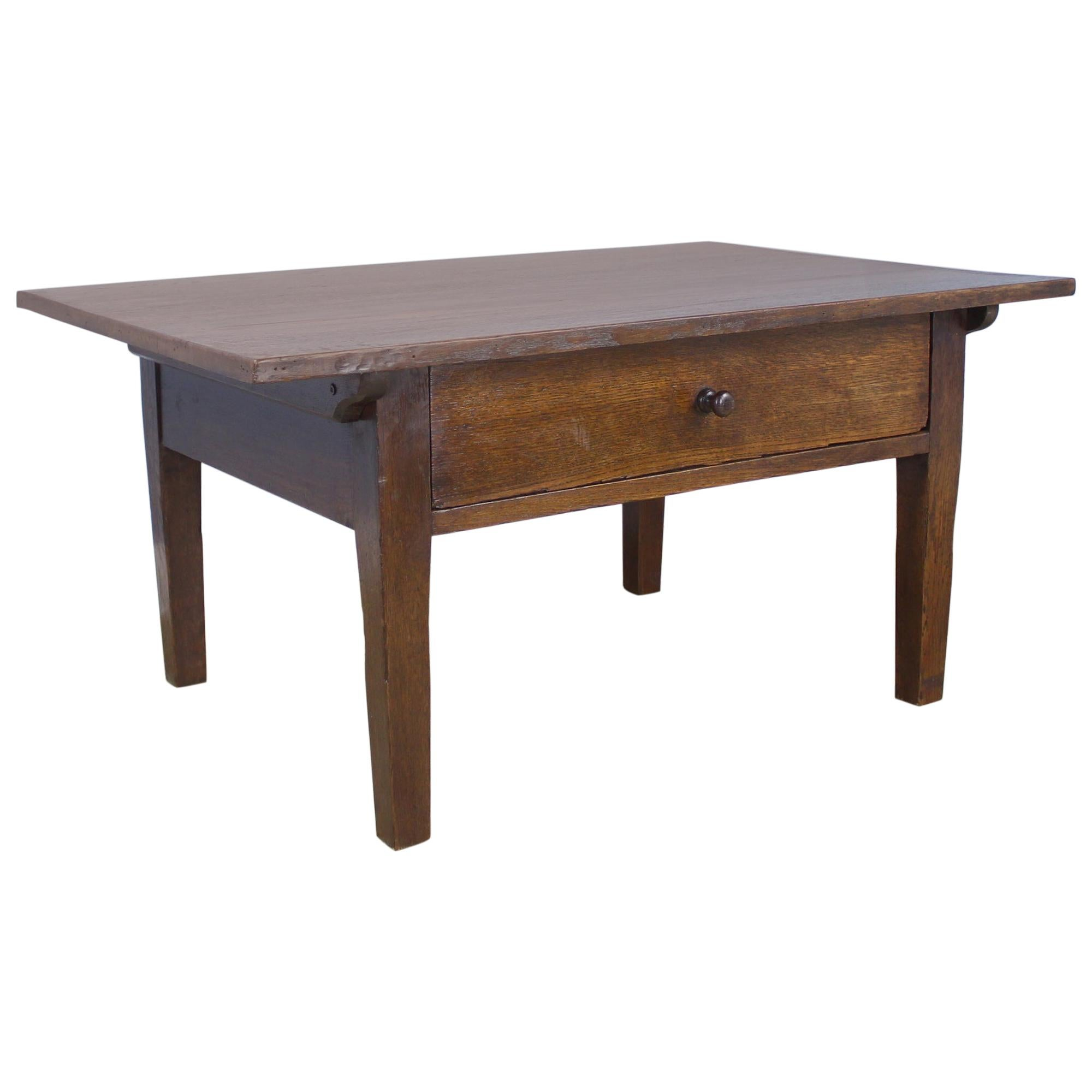 Antique French Chestnut Coffee Table