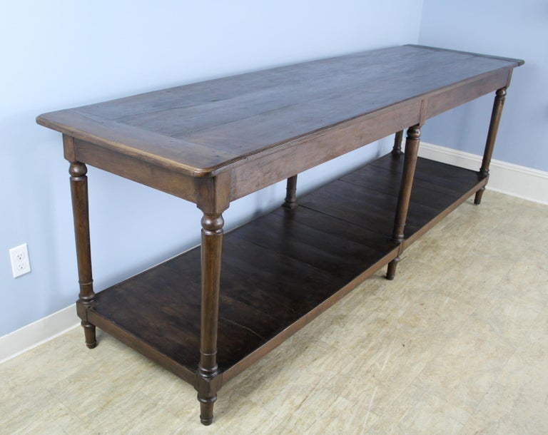 Antique French Chestnut Draper's Table In Good Condition In Port Chester, NY