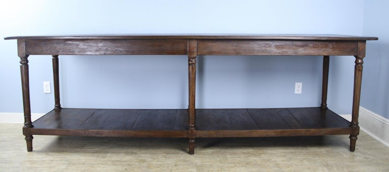 19th Century Antique French Chestnut Draper's Table
