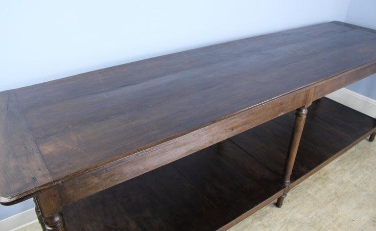 Antique French Chestnut Draper's Table 1