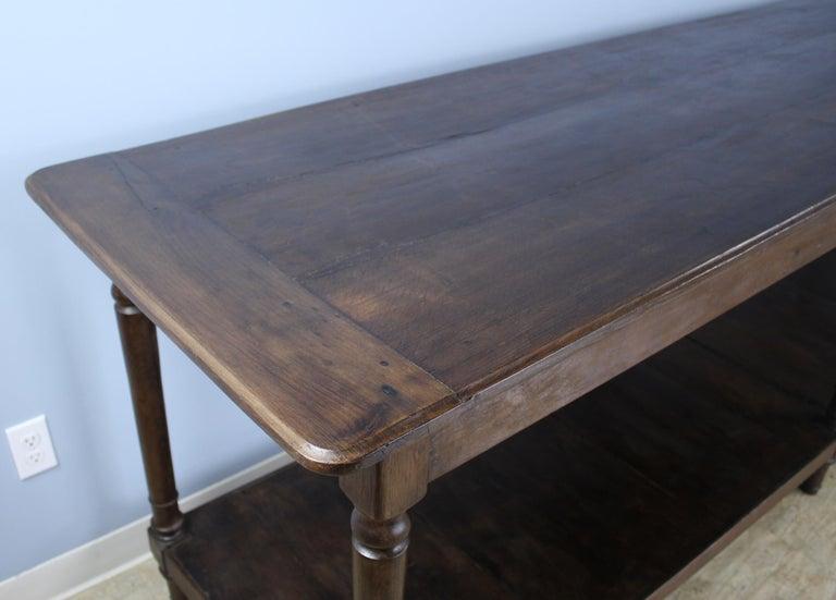 Antique French Chestnut Draper's Table 2
