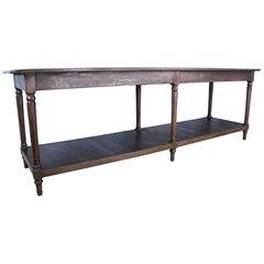 Antique French Chestnut Draper's Table
