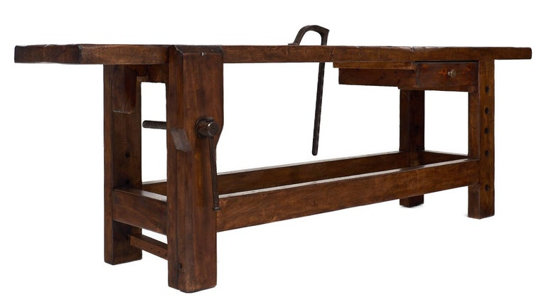 Antique French Chestnut Workbench At 1stdibs