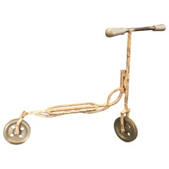 Antique French Child's Size Scooter Made of Steel
