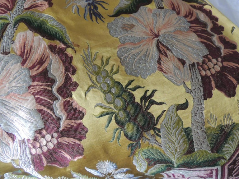 Antique French Chinoiserie Inspired Woven Silk Panel In Good Condition For Sale In Wilton Manors, FL