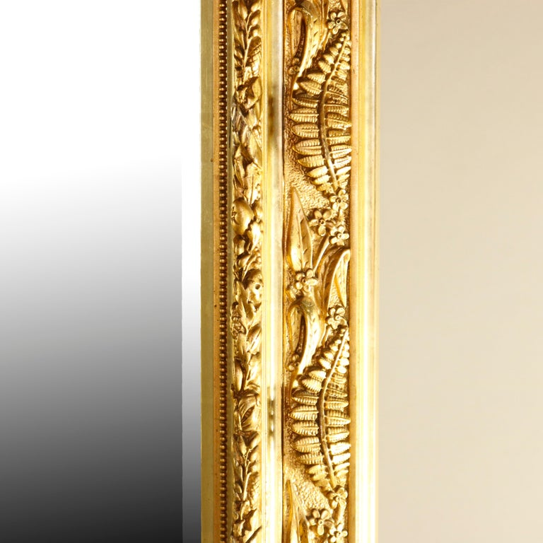 Antique French Classical Baroque Style Figural Giltwood Pier Mirror, circa 1880 For Sale 4