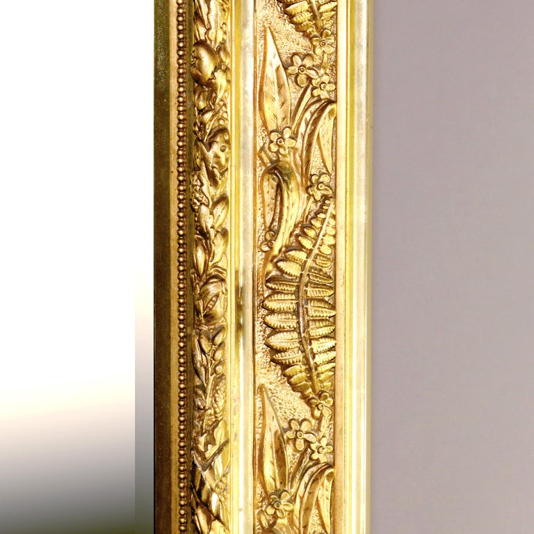 Antique French Classical Baroque Style Figural Giltwood Pier Mirror, circa 1880 For Sale 5