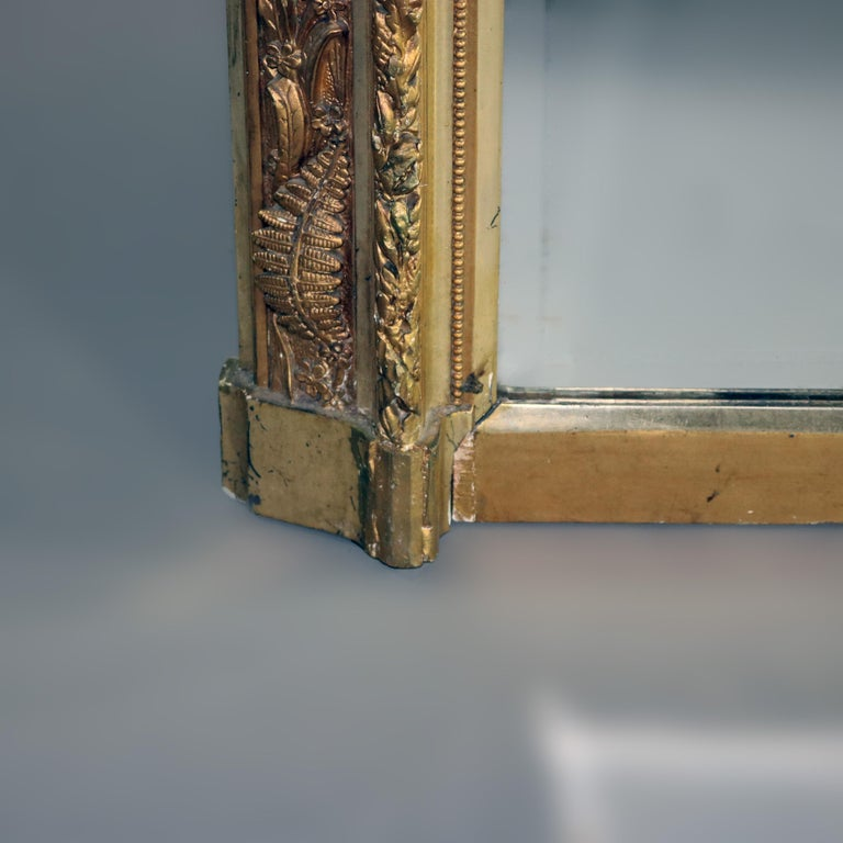 Antique French Classical Baroque Style Figural Giltwood Pier Mirror, circa 1880 For Sale 3