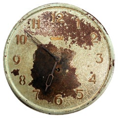 Antique French Clock Dial Face Industrial Fully Working