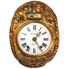 Antique French Clock Dial Face Wall Clock, Fully Working