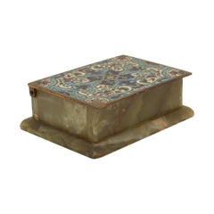 Antique French Cloisonné Box
