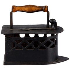 Antique French Coal Iron, Late 19th Century
