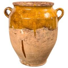 Antique French Confit Pot, Late 19th Century
