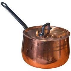 Antique French Copper Saucepan, with French Stamped Hallmark