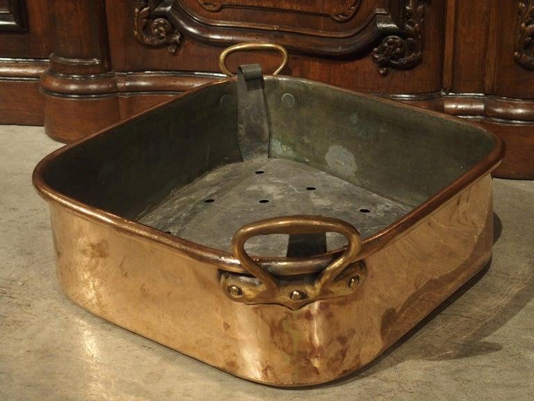 Antique French Copper Turbotiere Fish Poacher, 18th Century For Sale 9