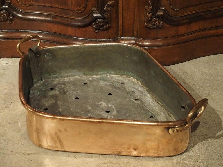 Antique French Copper Turbotiere Fish Poacher, 18th Century For Sale 4