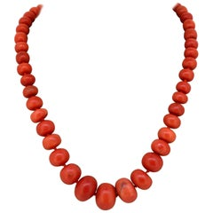Antique French Coral Necklace, circa 1900