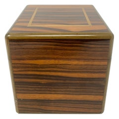 Antique French Coromandel Wood Humidor Made by Dunhill