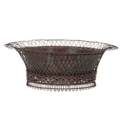 Antique French Country Iron Planter