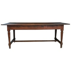 Antique French Country Oak Dining Table or Desk from Provence