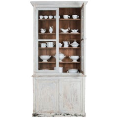 Antique French Country Patinated Dining Cabinet
