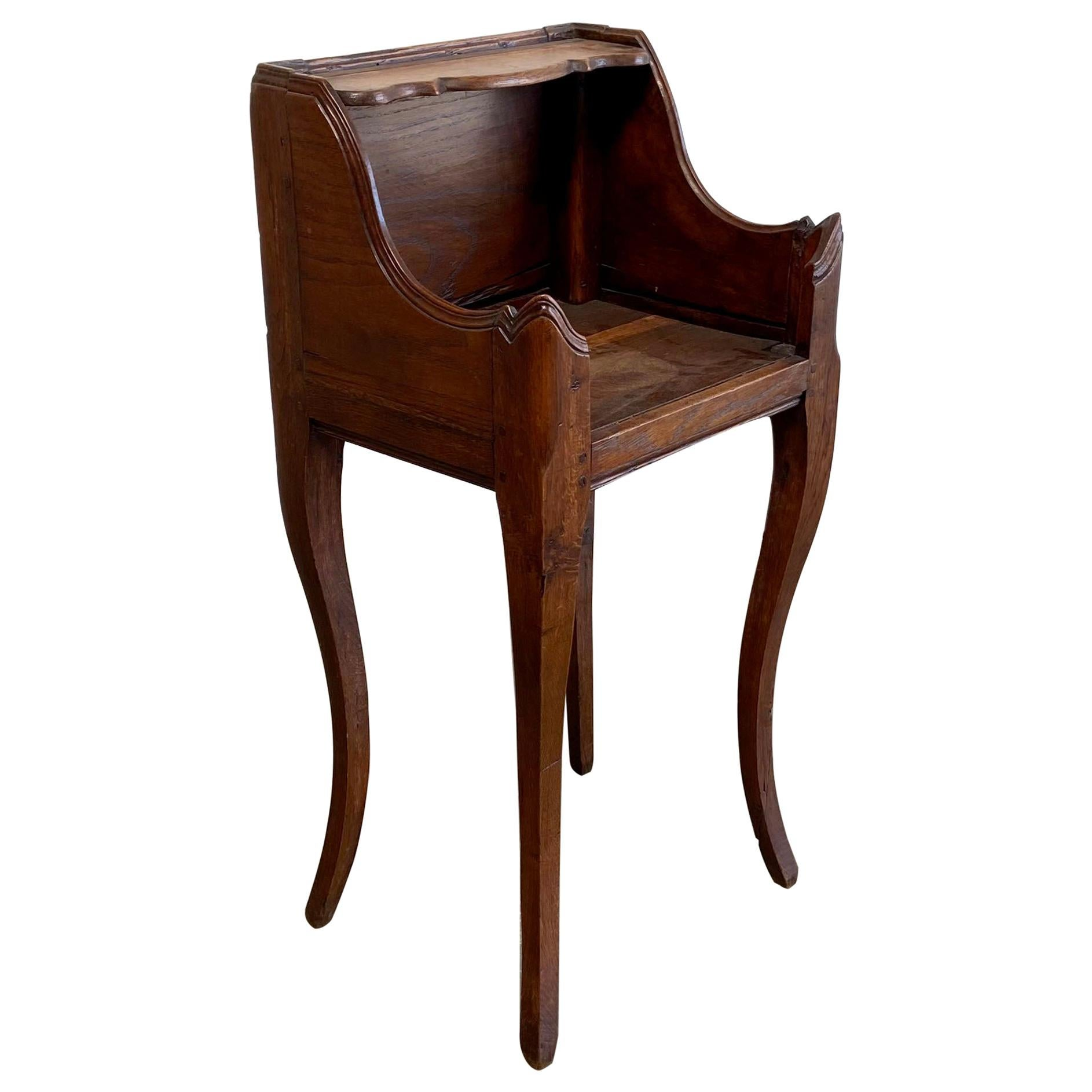 Antique French Country Style Walnut Night Stand or Side Table