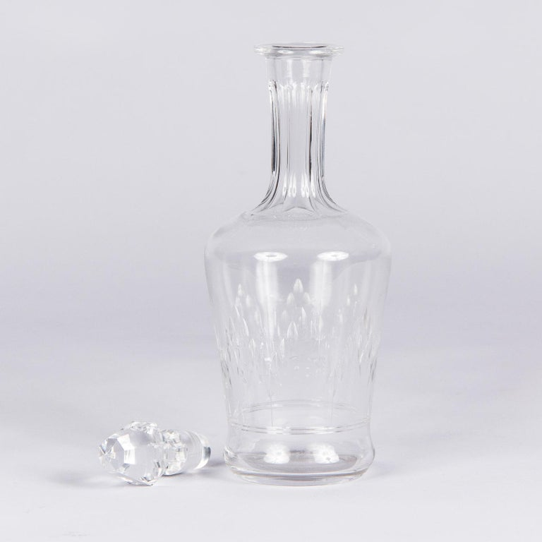20th Century Antique French Crystal Carafe, Early 1900s For Sale