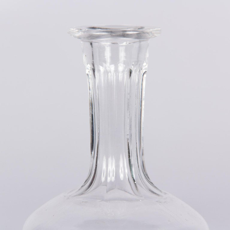 Antique French Crystal Carafe, Early 1900s For Sale 1