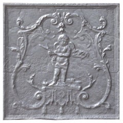 Antique French 'Cupid' Fireback, 19th Century