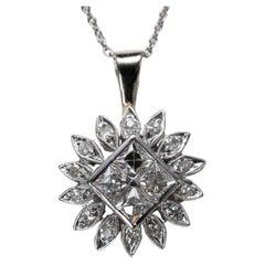 Antique French Cut Diamond Pendant