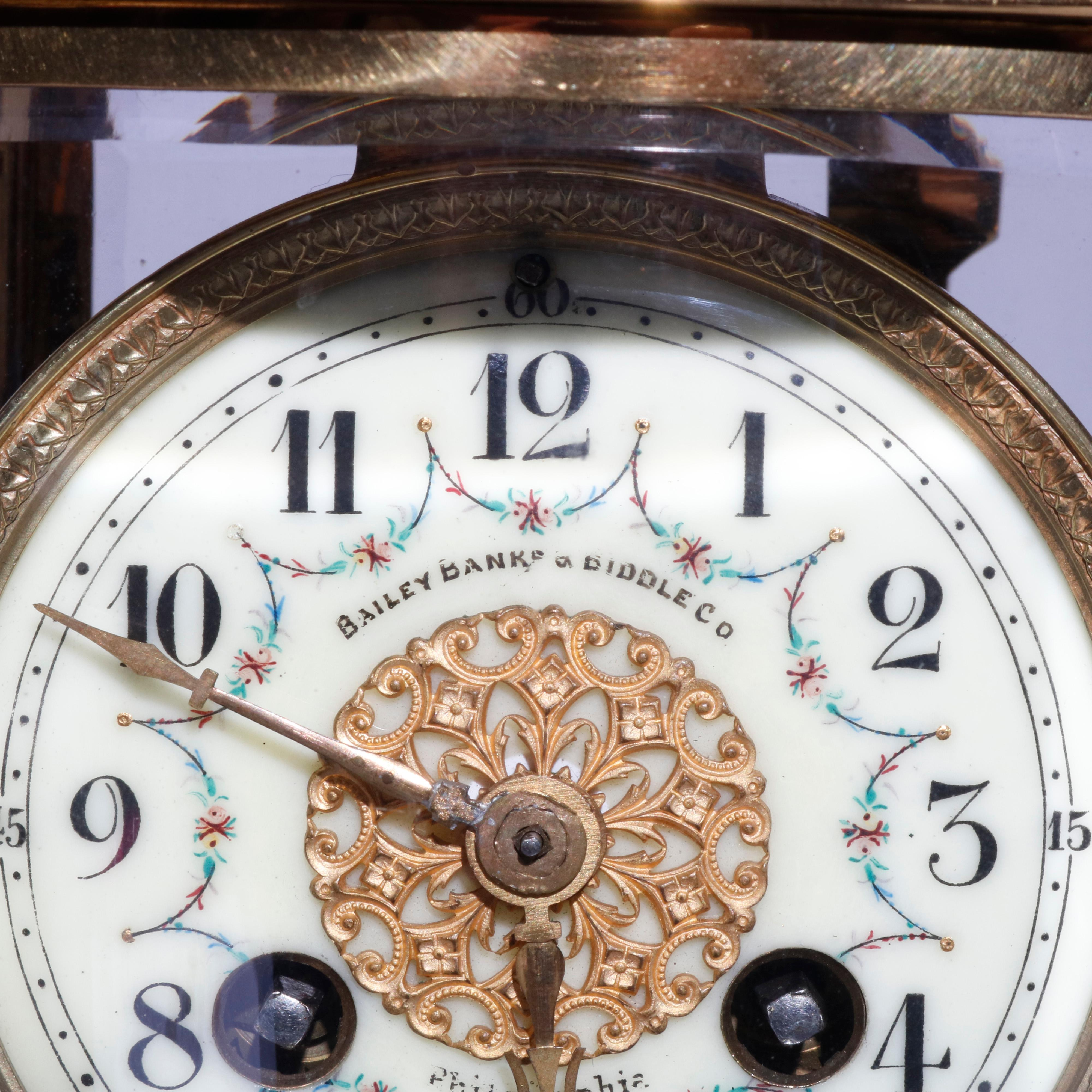 French D Argent For Bailey Banks And Biddle Crystal Regulator Clock Circa 1900 For Sale At 1stdibs