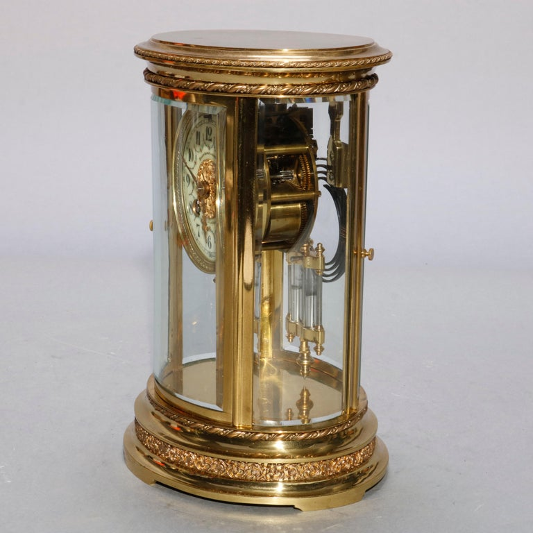 20th Century French D'Argent for Bailey, Banks and Biddle Crystal Regulator Clock, circa 1900 For Sale