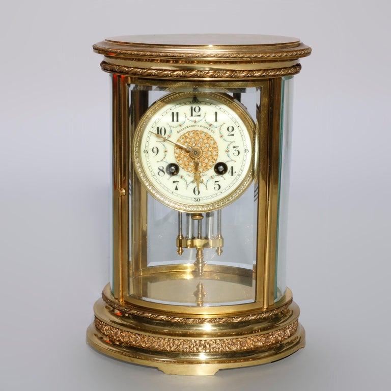 Brass French D'Argent for Bailey, Banks and Biddle Crystal Regulator Clock, circa 1900 For Sale