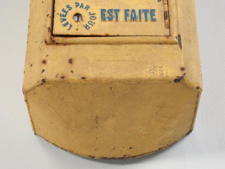 Antique French Delachanal Paris Mailbox in Original Paint, circa 1918 For Sale 8