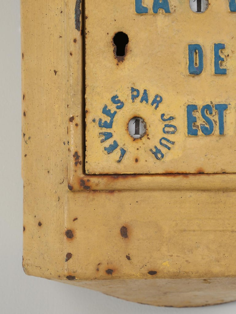 Early 20th Century Antique French Delachanal Paris Mailbox in Original Paint, circa 1918 For Sale