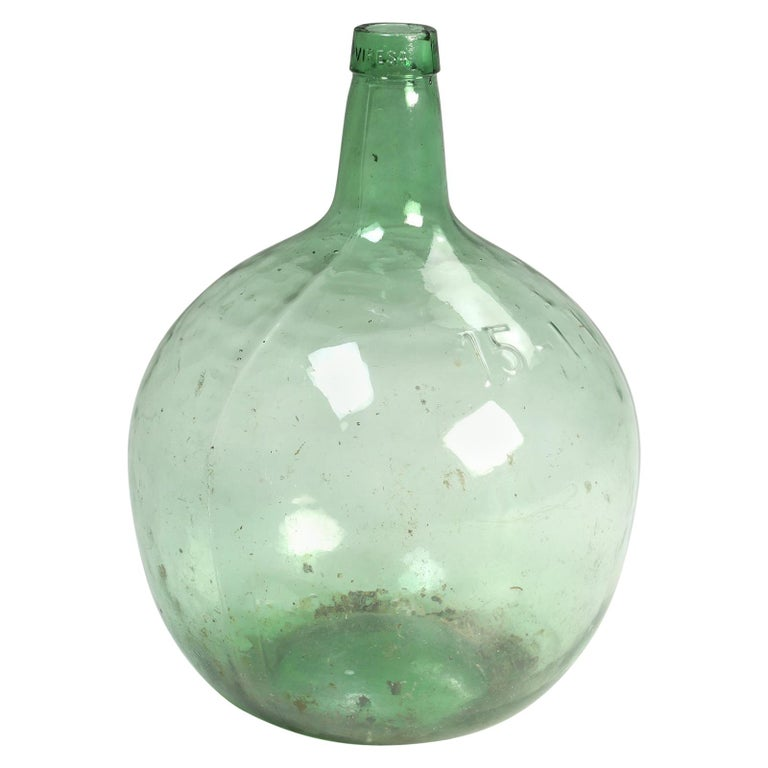 Antique French Demijohn or Carboy For Sale