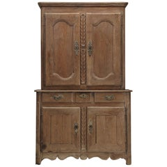 Antique French Deux Corp 'Cupboard' in Original Finish