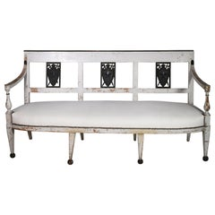 19th Century French Directoire Settee