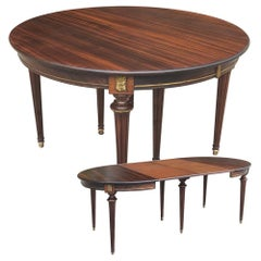 Antique French Directoire Dining Table 'with 2 Leaves'